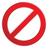 znamení zakázáno