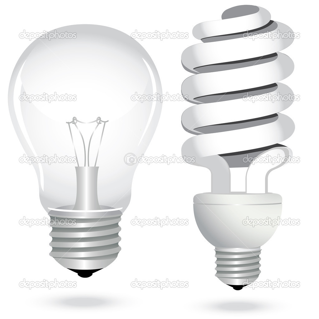 Set Energy Saving Light Bulb Lamp Electricity Stock Vector Svetap 8283713