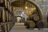 Photo Cellar with wine barrels