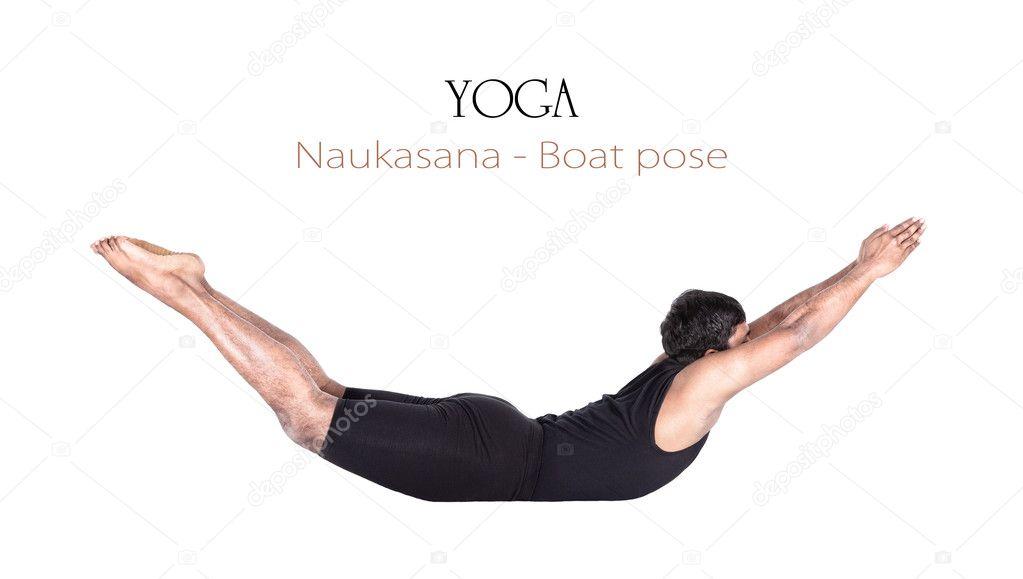 barco naukasana yoga pose — Fotos de Stock © byheaven #10456266