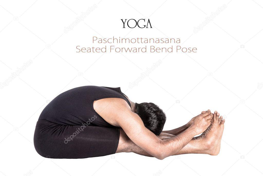 posición de paschimottanasana yoga — Fotos de Stock © byheaven #10565742