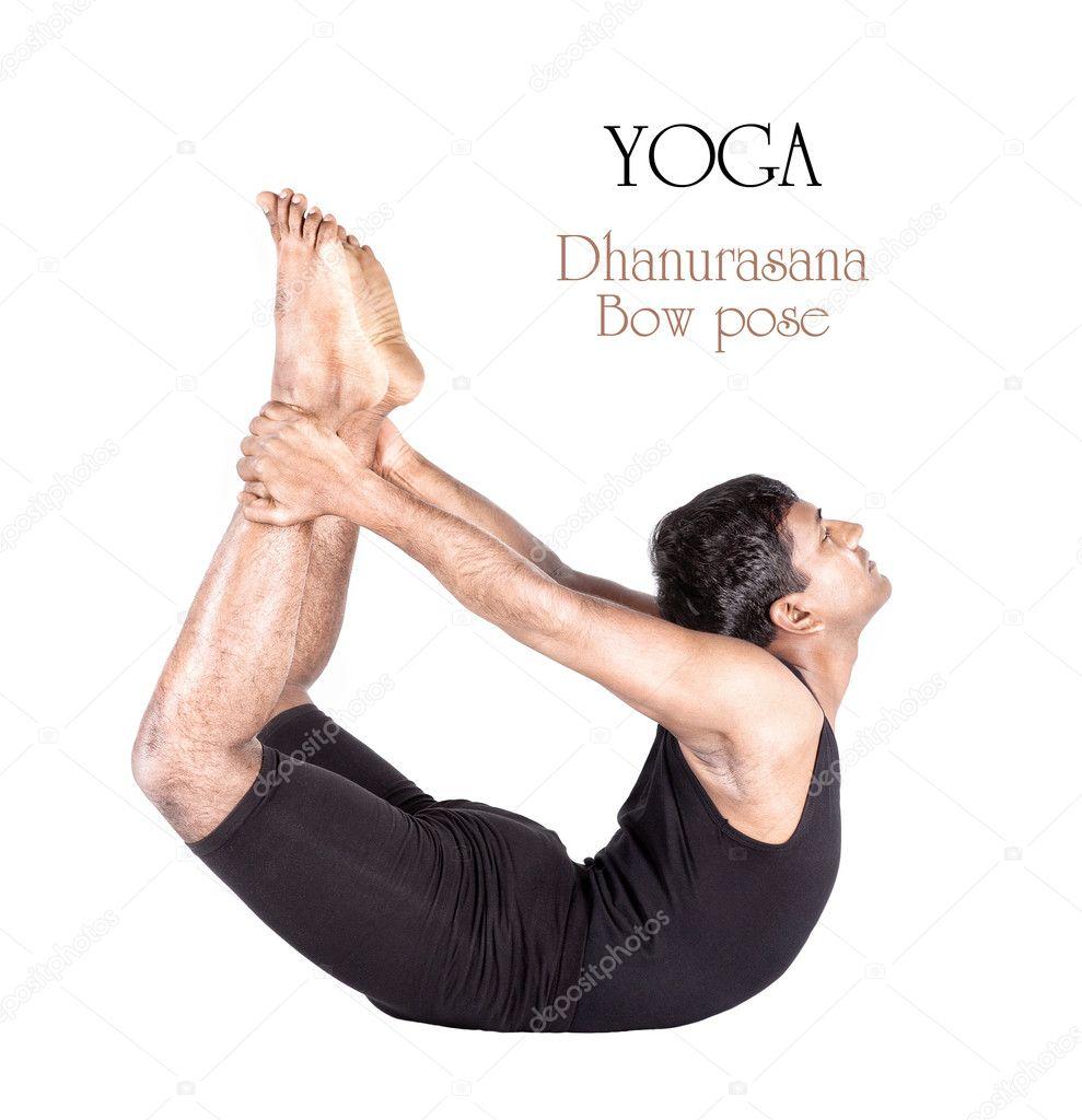 arco dhanurasana yoga pose — Fotos de Stock © byheaven #8561489