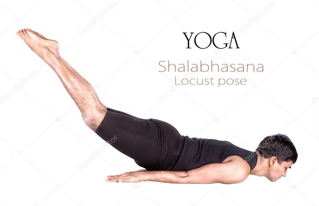 posición de yoga shalabhasana langosta — Foto de stock © byheaven ...