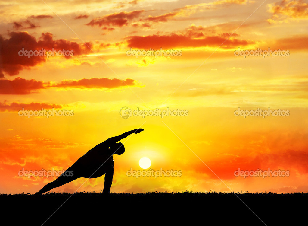 Yoga utthita parsvakonasana pose