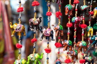 Elephants in market
