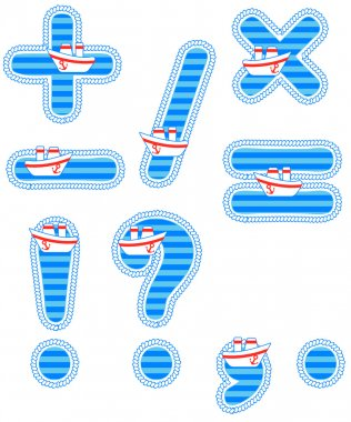 Baby boy set of isolated signs clip art vector