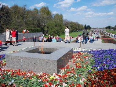 At the Piskaryovskoye cemetery on May 9, 2009 in St.Petersburg.