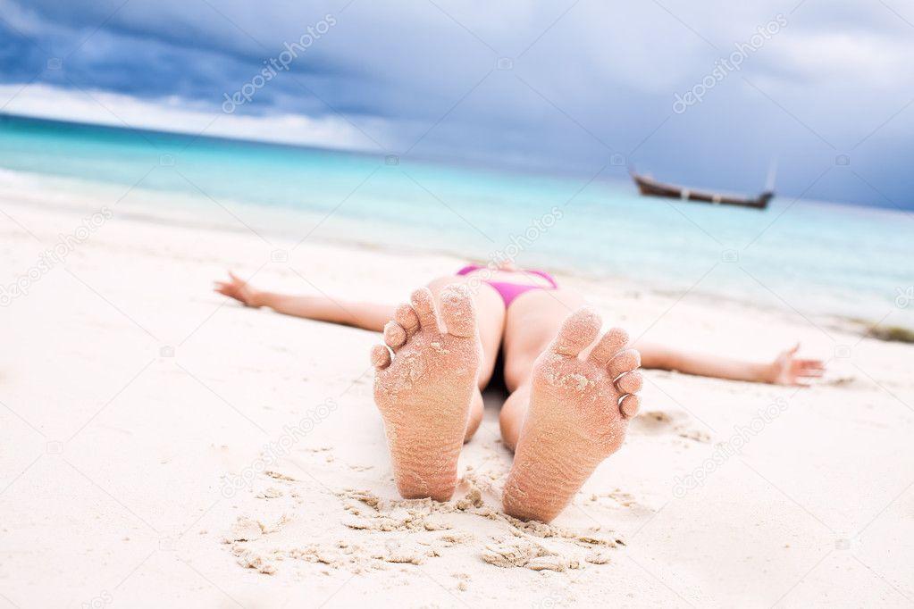Feet at the beach