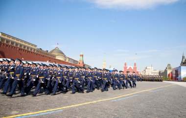 Participants of the Military Parade dedicated to the 65th annive