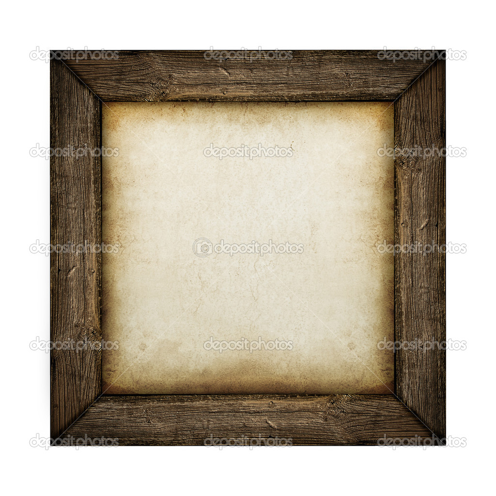 Wood frame with paper fill