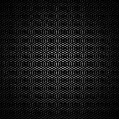 Black hexagonal mesh background