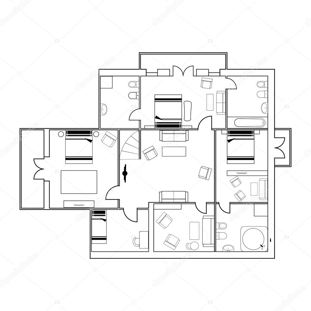 Building plan Stock Vector teia 8360800