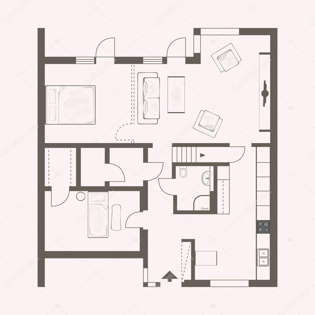 16 773 Floor Plan Vector Images Free Royalty Free Floor Plan Vectors Depositphotos