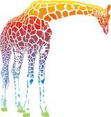 Fotografia vettore giraffa arcobaleno