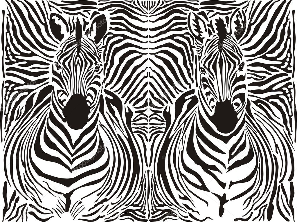 Zebra pattern background Stock Vector vlado 9341960