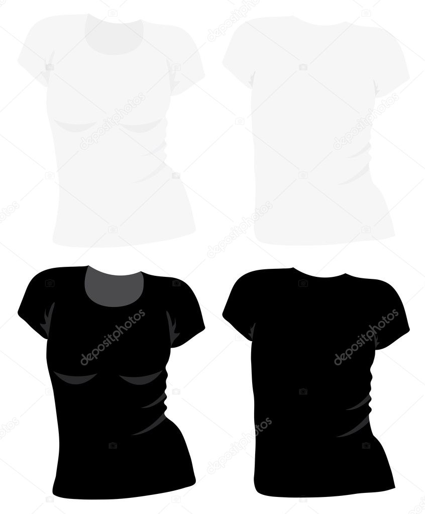 Vector t-shirt template — Stock Vector © DahliaMM #8270169