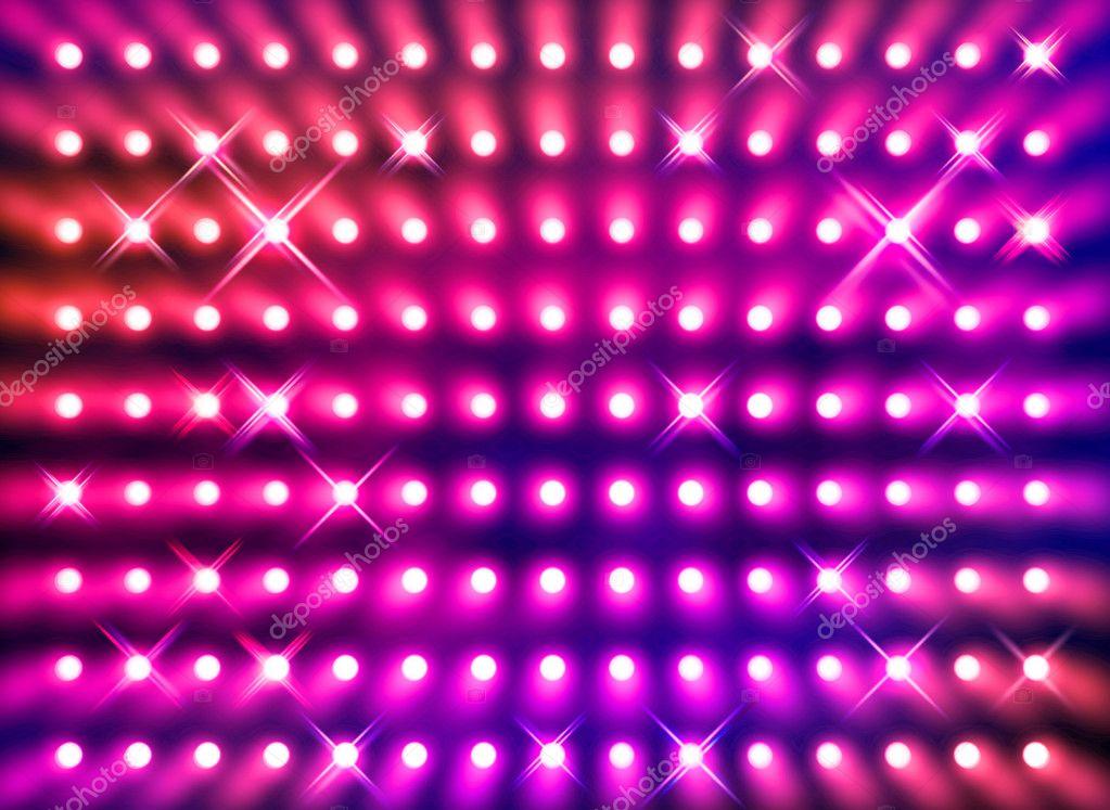 Sparkling redspotlight wall