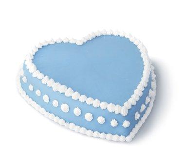 Blue decorated cake