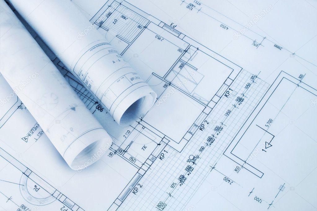 Construction plan blueprints