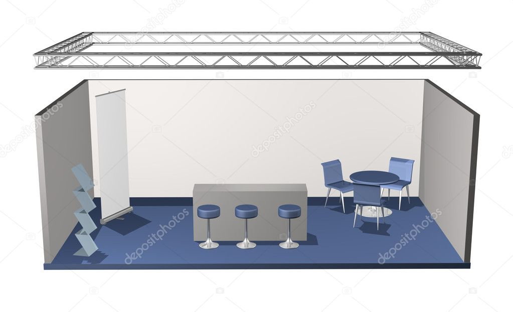 Base stand salon vide photographie anterovium 9337737 for Prix stand salon