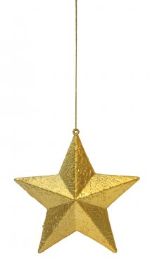 Golden star hanging