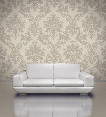 Modern sofa and frame