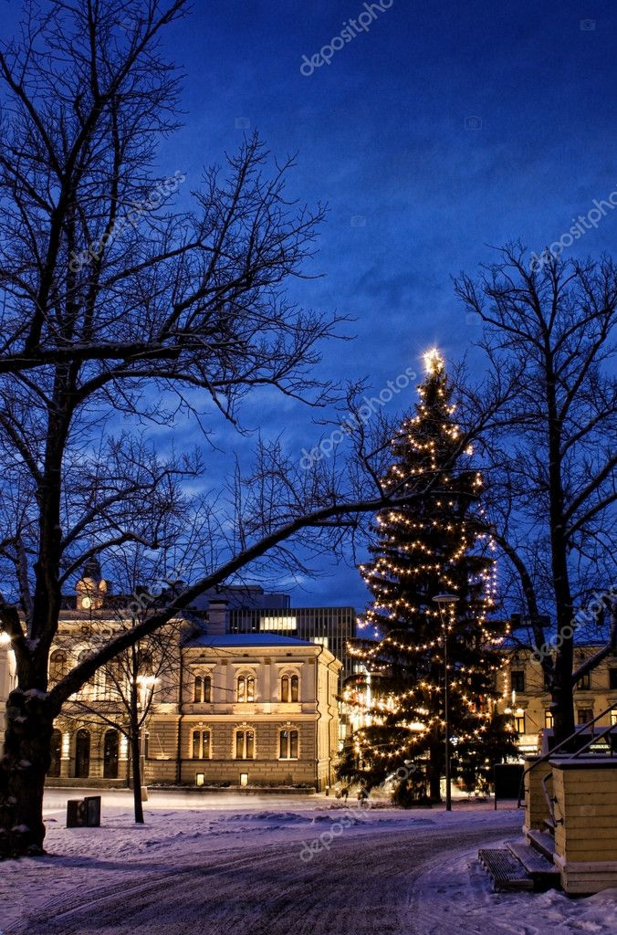 Christmas tree in town centre