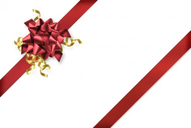 Diagonal red and gold gift wrap