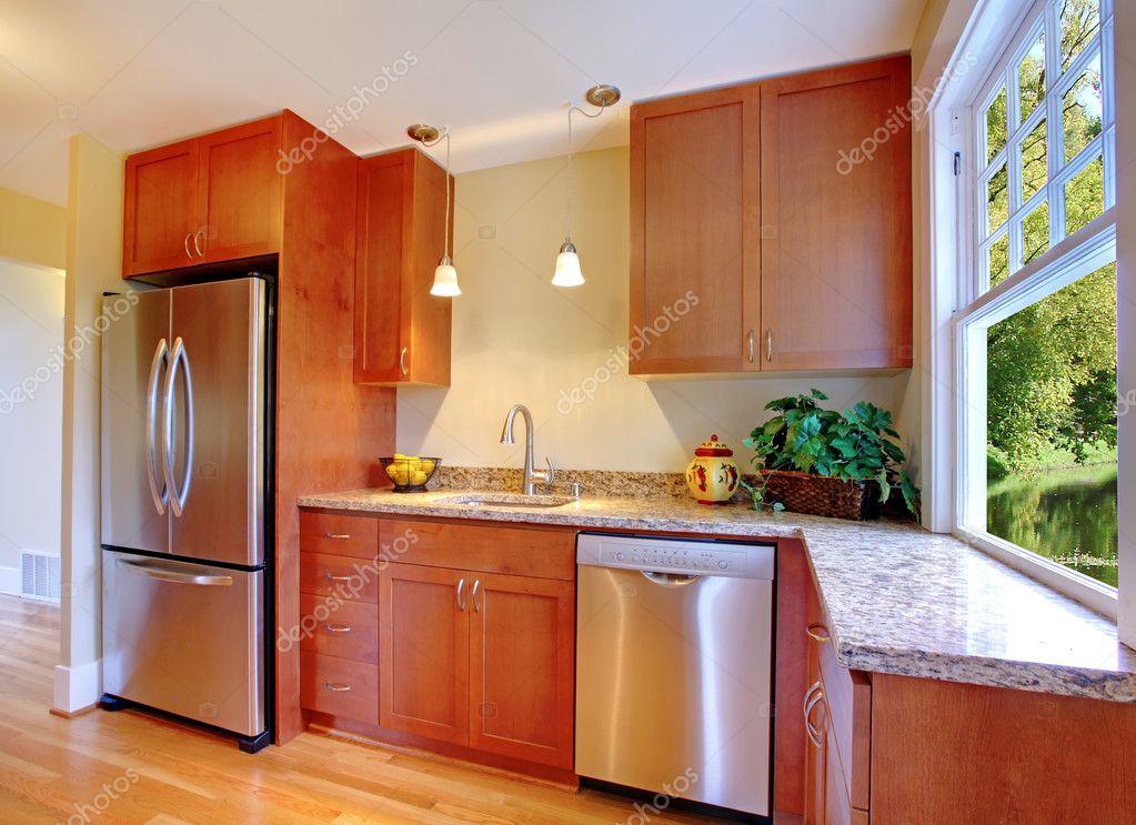 schöne neue Kirsche Küche mit Hartholz — Stockfoto © iriana88w #8876591