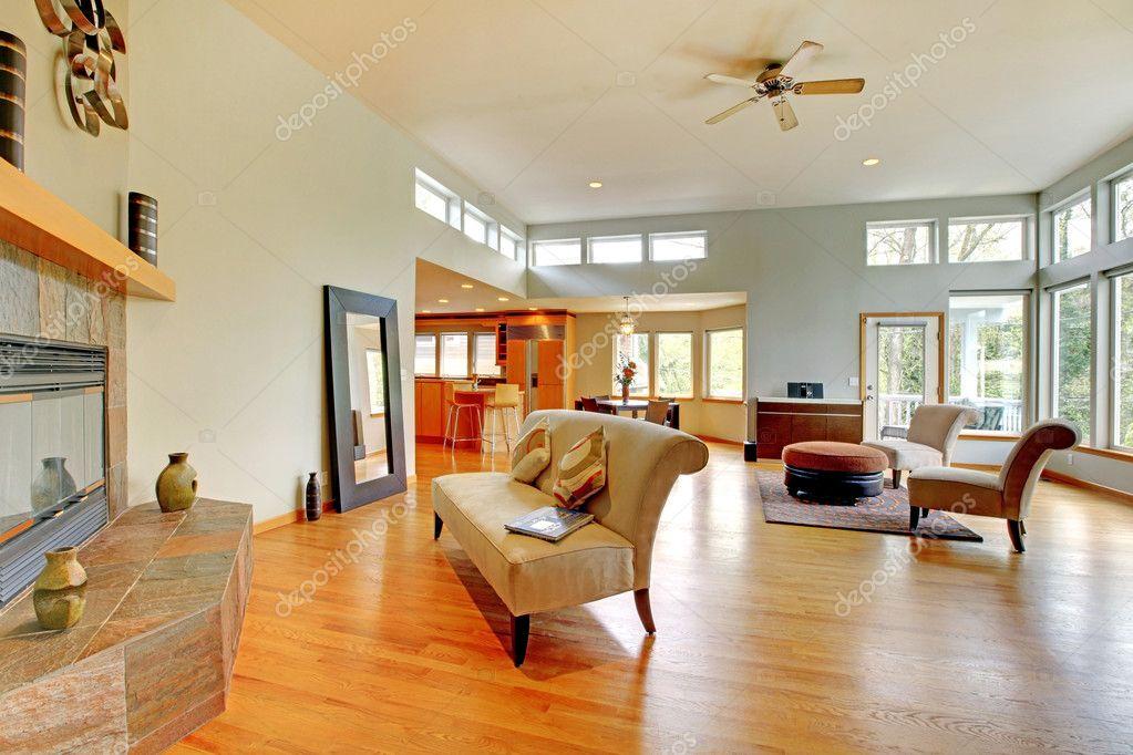 interior casa fantástica moderna sala — Foto de stock © iriana88w ...