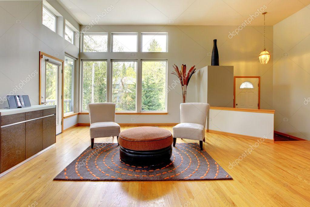 Interni Moderni Di Case : Interno di casa fantastico soggiorno moderno u foto stock