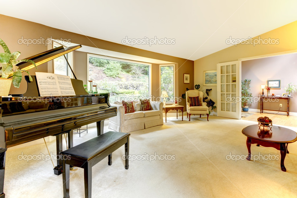 Living Room With Grand Piano U2014 Stock Photo #9650261 Part 85