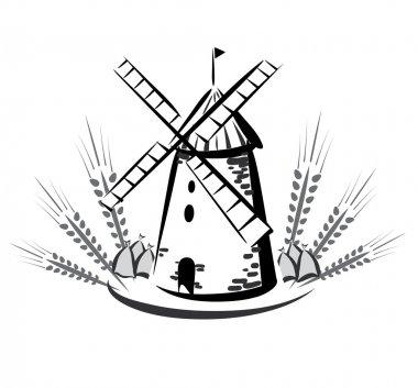 Wind mill emblem, symbol