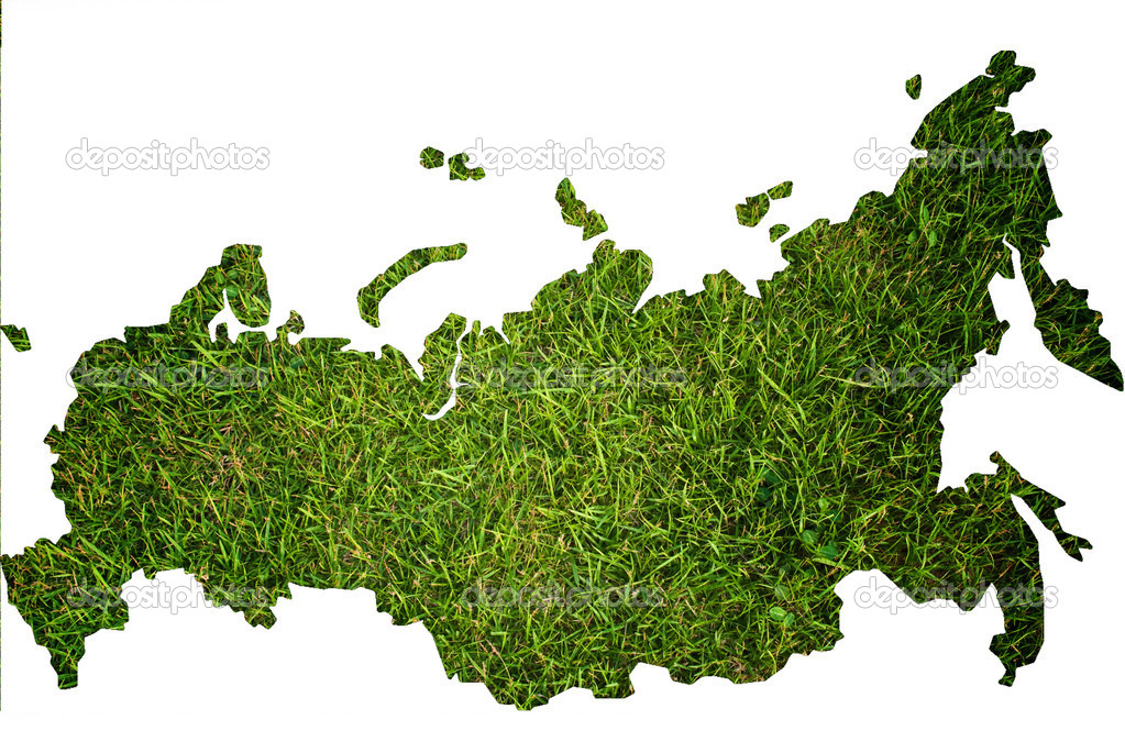Russia map isolated on the white.