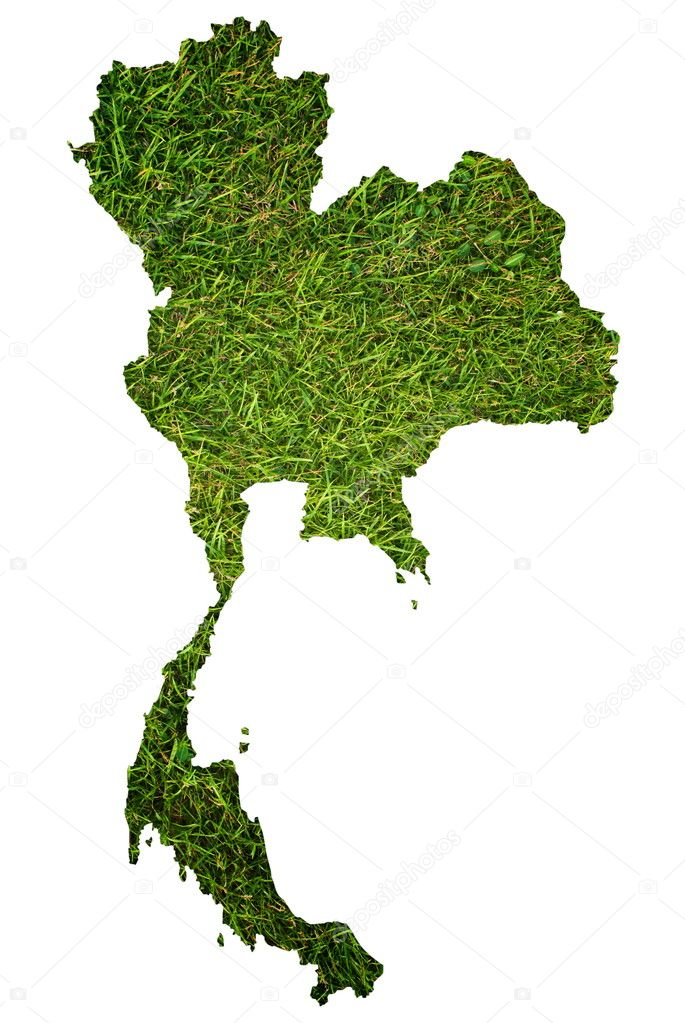 Thailand map isolated on the white.