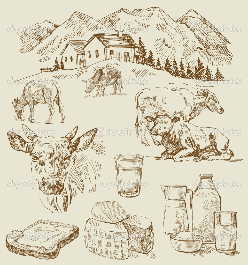 Farm - hand drawn set