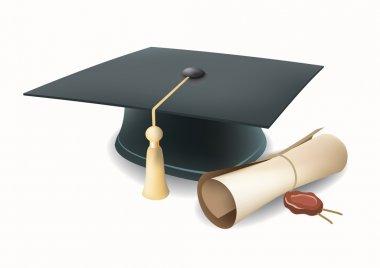 Vector graduation cap