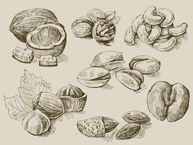 Set of nuts