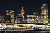 Vánoční noc scéna města vancouver, Kanada