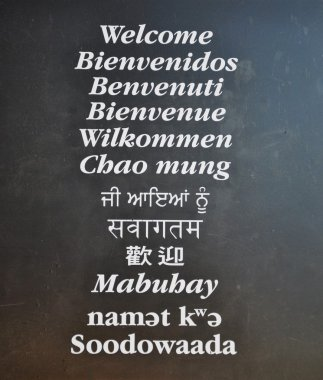 Multi-language Wellcome board