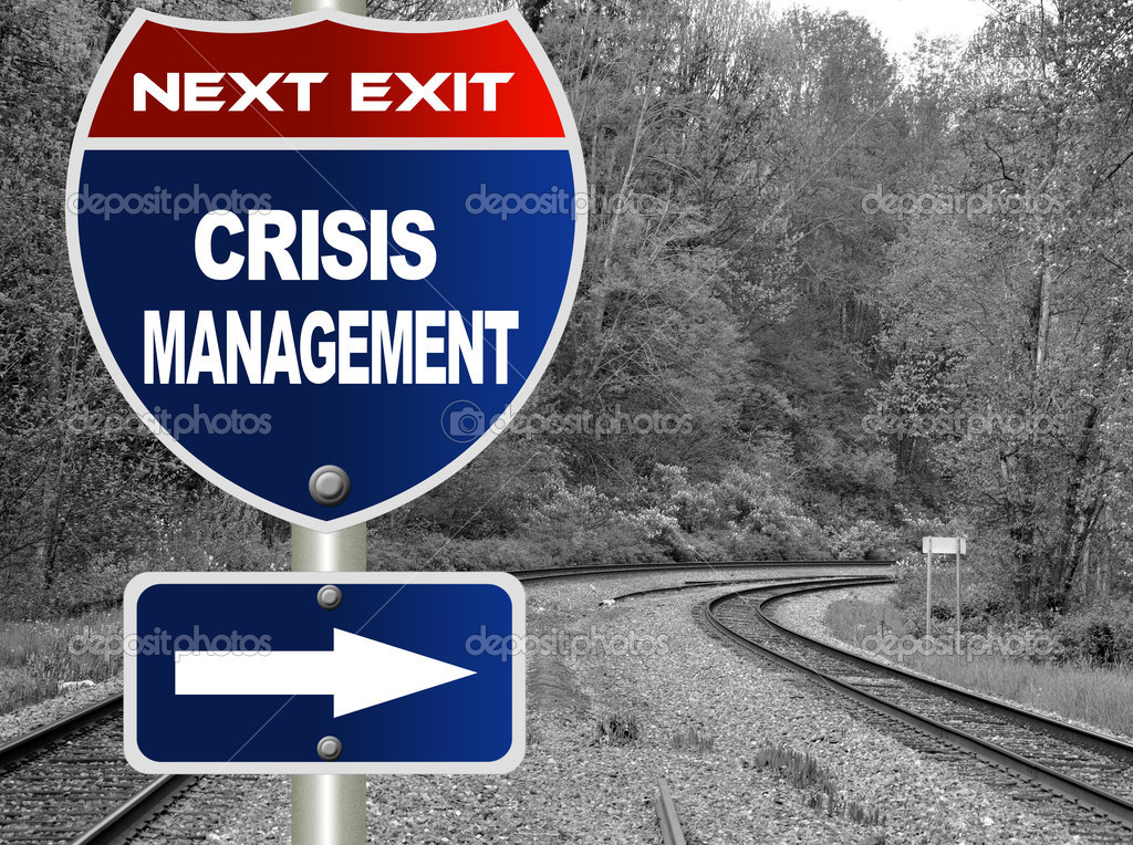 Crisis management road sign