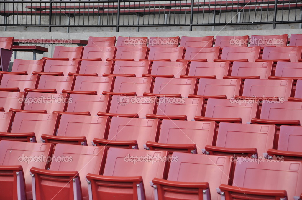 A field of empty seats