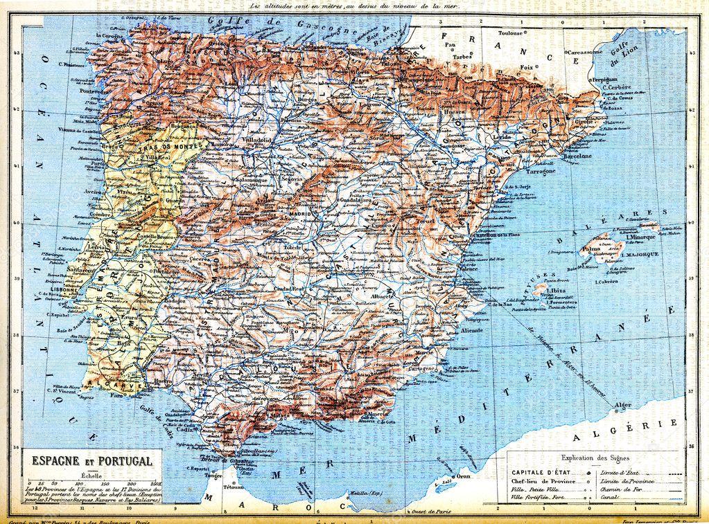 karta över portugal