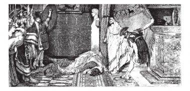 Caligula and Claude, painting by Alma-Tadema (see p 367). - Draw