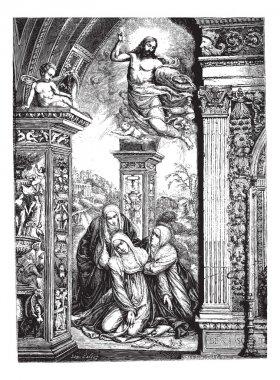 """Картина, постер, плакат, фотообои """"фрески в церкви Сан Доменико в Сиене, по Razzi (jumpe"""", артикул 9085687"""