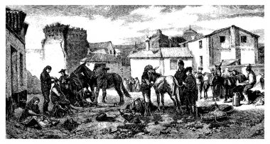 The shearers Granada, paint Worms. - Drawing J. Lavee. - (This t