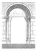 das Tor von Beaune Vintage Gravur