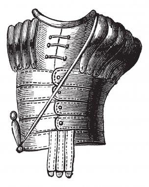 The Greek armor vintage engraving