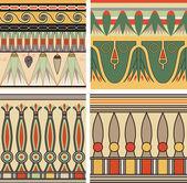 sada starých egyptských ornament, vektor, bezešvé pattern