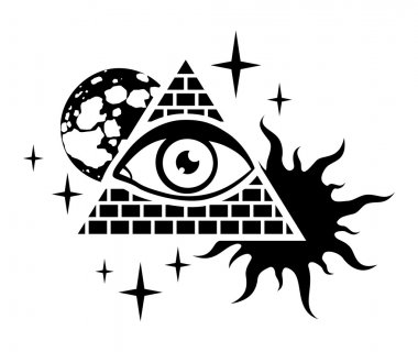 Pyramid and the eye